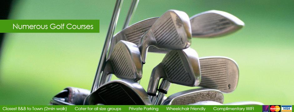 Numerous Golf Courses